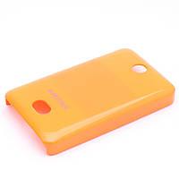Чехол-накладка для Nokia Asha 501, пластиковый, Buble Pack, Оранжевый /case/кейс /нокиа
