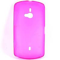 Чохол-накладка для Sony Ericsson WT19i, силіконовий, рожевий /case/кейс /соні еріксон