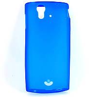 Чехол-накладка для Sony Ericsson Xperia Ray ST18i, силиконовый, синий /case/кейс /сони эриксон