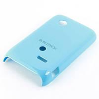 Чехол-накладка для Sony Xperia Tipo, ST21i, пластиковый, Buble Pack, Голубой /case/кейс /сони