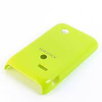Чехол-накладка для Sony Xperia Tipo, ST21i, пластиковый, Buble Pack, Лайм /case/кейс /сони