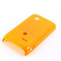 Чехол-накладка для Sony Xperia Tipo, ST21i, пластиковый, Buble Pack, Оранжевый /case/кейс /сони