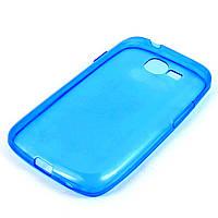 Чехол-накладка для Samsung Galaxy Trend S7390, S7392, ультратонкий силиконовый, Голубой /case/кейс /самсунг галакси