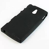 Чохол-накладка для Sony Xperia P LT22i, силіконовий, чорний /case/кейс /соні