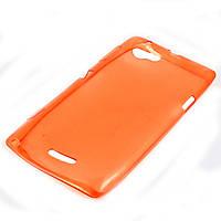 Чехол-накладка для Sony Xperia L, C2105, ультратонкий силиконовый, Красный /case/кейс /сони