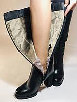 Erisses. Зимние сапоги на натуральном меху на каблуке. Натуральная кожа. Люкс качество.  Р 36., фото 5