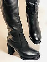 Erisses. Зимние сапоги на натуральном меху на каблуке. Натуральная кожа. Люкс качество.  Р 36., фото 6