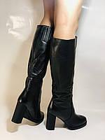 Erisses. Зимние сапоги на натуральном меху на каблуке. Натуральная кожа. Люкс качество.  Р 36., фото 7