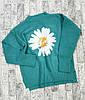 Женский свитер с крупной ромашкой 42-46 (в расцветках), фото 5