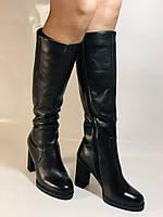 Erisses. Зимние сапоги на натуральном меху на каблуке. Натуральная кожа. Люкс качество.  Р 36., фото 10