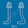 Болты фундаментные изогнутые ГОСТ 24379.1-80  тип 1 исполнение 1 и 2