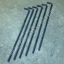 Болты фундаментные изогнутые ГОСТ 24379.1-80  тип 1 исполнение 1 и 2   Размеры, длина, вес, фото 3