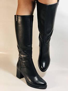 Polann. Зимние сапоги на натуральном меху,  на среднем каблуке. Натуральная кожа. Люкс качество. Р. 36-39.