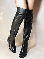 Натуральне хутро. Зимові чоботи-ботфорти на низькому каблуці. Натуральна шкіра. Люкс. Berkonty. Р. 36,39,40., фото 2