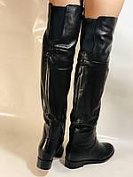 Натуральне хутро. Зимові чоботи-ботфорти на низькому каблуці. Натуральна шкіра. Люкс. Berkonty. Р. 36,39,40., фото 9