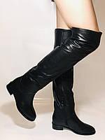 Натуральне хутро. Зимові чоботи-ботфорти на низькому каблуці. Натуральна шкіра. Люкс. Berkonty. Р. 36,39,40., фото 6