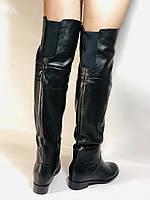 Натуральне хутро. Зимові чоботи-ботфорти на низькому каблуці. Натуральна шкіра. Люкс. Berkonty. Р. 36,39,40., фото 5
