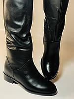 Натуральне хутро. Зимові чоботи-ботфорти на низькому каблуці. Натуральна шкіра. Люкс. Berkonty. Р. 36,39,40., фото 3