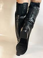 Натуральне хутро. Зимові чоботи-ботфорти на низькому каблуці. Натуральна шкіра. Люкс. Berkonty. Р. 36,39,40., фото 4