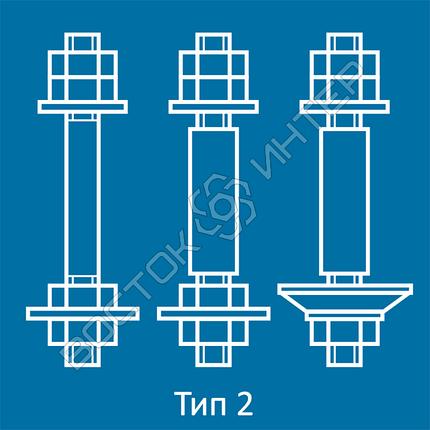 Болты фундаментные с анкерной плитой ГОСТ 24379.1-80  тип 2 исполнение 1, 2 и 3 | Размеры, длина, вес, фото 2
