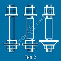 Болты фундаментные с анкерной плитой ГОСТ 24379.1-80  тип 2 исполнение 1, 2 и 3