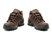 Кросівки тактичні на мембрані жіночі водостійкі шкіряні МБС підошва 9д коричневі, фото 1