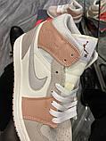 Женские кроссовки  Nike Air Jordan 1 Beige Grey., фото 5