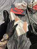 Женские кроссовки  Nike Air Jordan 1 Beige Grey., фото 6