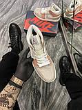 Женские кроссовки  Nike Air Jordan 1 Beige Grey., фото 7