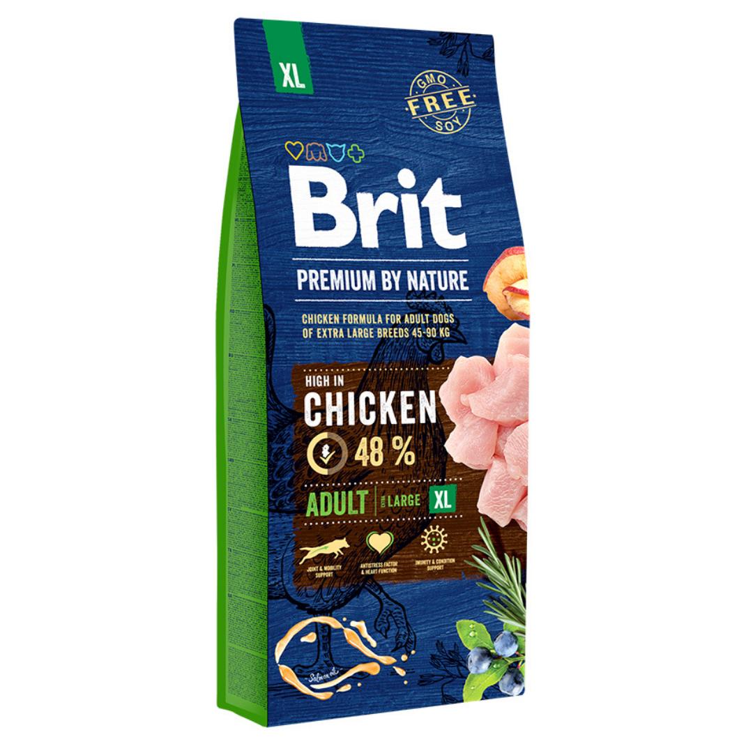 Сухий корм Бріт Преміум Едалт ХЛ  для дорослих собак гігантських порід 15кг спрей Больфо та доставка