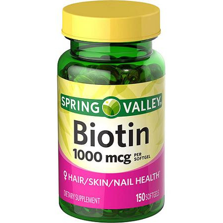 Биотин, 1000 мкг, 150 штук, Spring Valley.