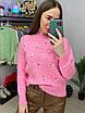 Вязаный свитер женский с мелким принтом в расцветках (р. 42 - 46) 33dm1019, фото 2