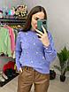 Вязаный свитер женский с мелким принтом в расцветках (р. 42 - 46) 33dm1019, фото 5