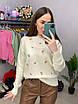 Вязаный свитер женский с мелким принтом в расцветках (р. 42 - 46) 33dm1019, фото 8