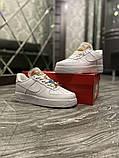 Женские кроссовки Nike Air Force 1 Low White Beige., фото 3