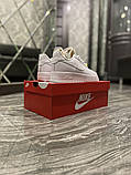 Женские кроссовки Nike Air Force 1 Low White Beige., фото 6