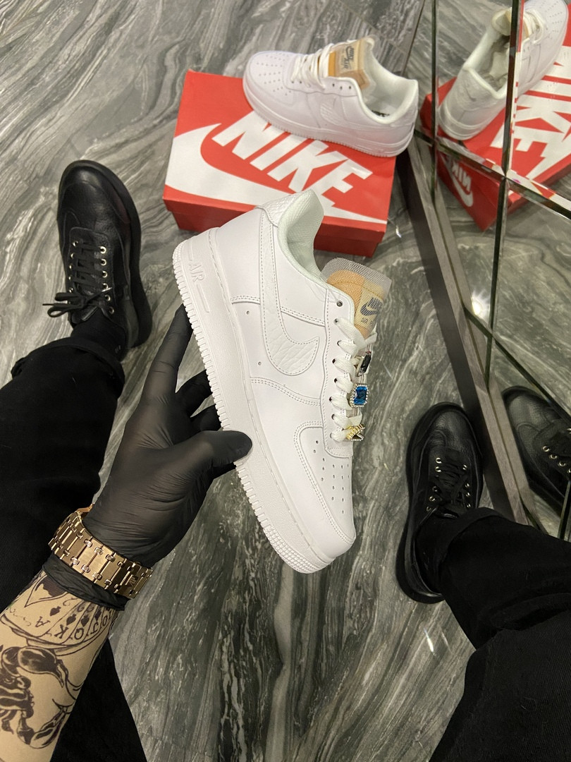 Женские кроссовки Nike Air Force 1 Low White Beige.
