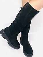 Gotti.Натуральне хутро. Зимові чоботи на платформі. Натуральна замша. Люкс якість. Р. 38.39., фото 10