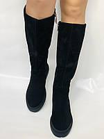 Gotti.Натуральне хутро. Зимові чоботи на платформі. Натуральна замша. Люкс якість. Р. 38.39., фото 4