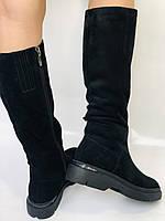 Gotti.Натуральне хутро. Зимові чоботи на платформі. Натуральна замша. Люкс якість. Р. 38.39., фото 8