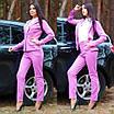 Женский классический брючный костюм в ярких цветах, фото 7