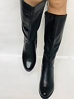 Polann.Зимові чоботи на натуральному хутрі, на середньому каблуці з натуральної шкіри. Р. 38. 39, фото 7