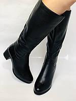 Polann.Зимові чоботи на натуральному хутрі, на середньому каблуці з натуральної шкіри. Р. 38. 39, фото 9