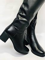 Polann.Зимові чоботи на натуральному хутрі, на середньому каблуці з натуральної шкіри. Р. 38. 39, фото 3