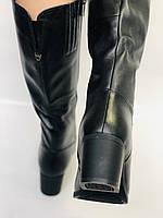Polann.Зимові чоботи на натуральному хутрі, на середньому каблуці з натуральної шкіри. Р. 38. 39, фото 6