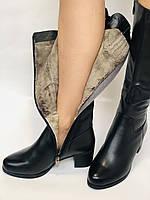 Polann.Зимові чоботи на натуральному хутрі, на середньому каблуці з натуральної шкіри. Р. 38. 39, фото 10