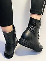 Туреччина. Натуральне хутро. Зимові черевики. Натуральна шкіра Alvito. Р. 38, фото 5