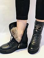 Туреччина. Натуральне хутро. Зимові черевики. Натуральна шкіра Alvito. Р. 38, фото 8