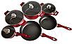 Набор посуды Benson BN-335 из 10 предметов Красный, фото 3