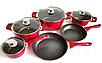 Набор посуды Benson BN-335 из 10 предметов Красный, фото 5